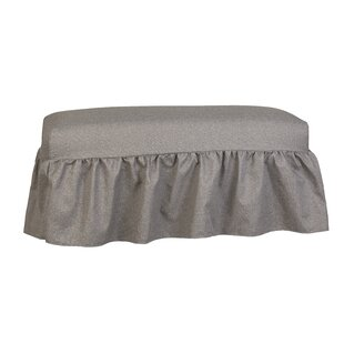 Copeland Gathered Slipcover Upholstered Bench