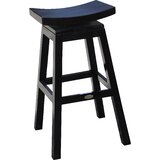 Donny Swivel Solid Wood Bar & Counter Stool by Alcott Hill®