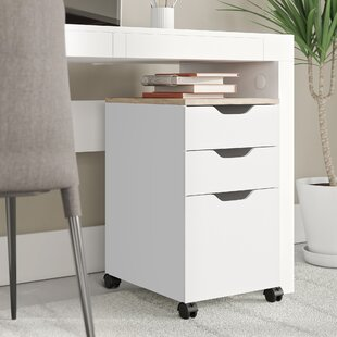 Rosborough Modern 3 Drawer Vertical Filing Cabinet