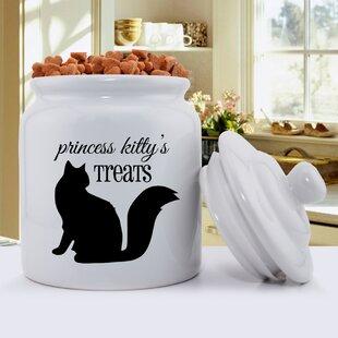 Script Silhouette Pet Treat Jar
