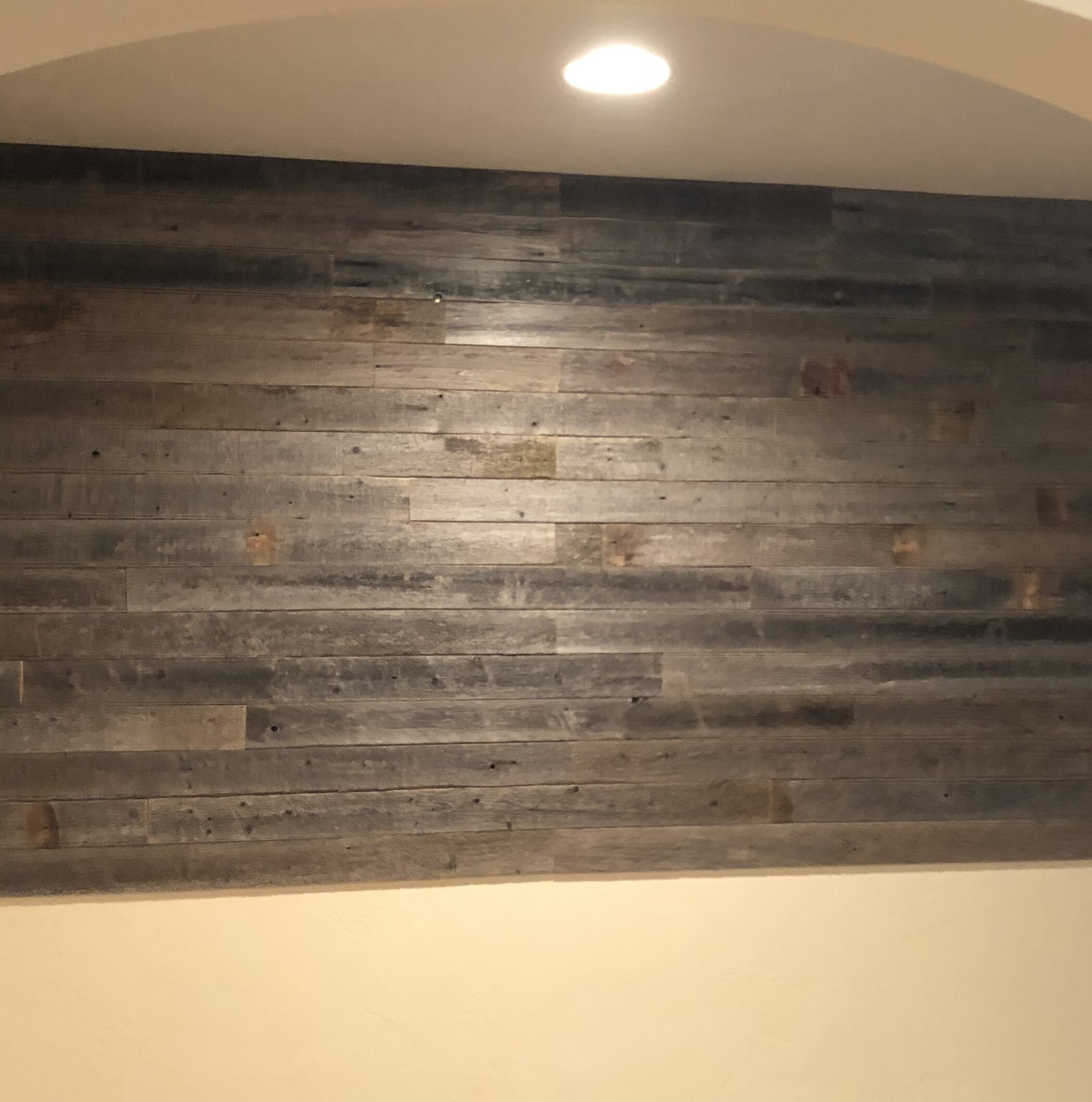 Rockin Wood 3 5 X 48 Reclaimed Peel And Stick Solid Wood Wall Paneling In Gray Wayfair
