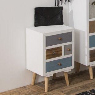 Superieur Kourtney 4 Drawer Bedside Table