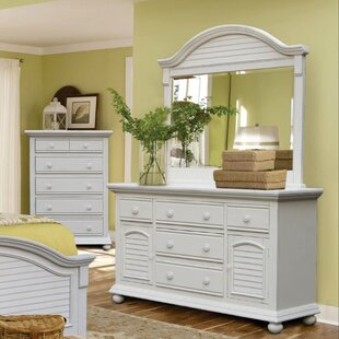 Laguna Triple 5 Drawer Dresser with Mirror by Rosecliff Heights