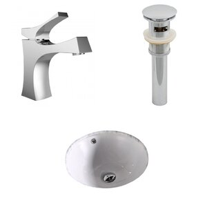 Shop For Ceramic Circular Undermount Bathroom Sink with Faucet and Overflow ByAmerican Imaginations