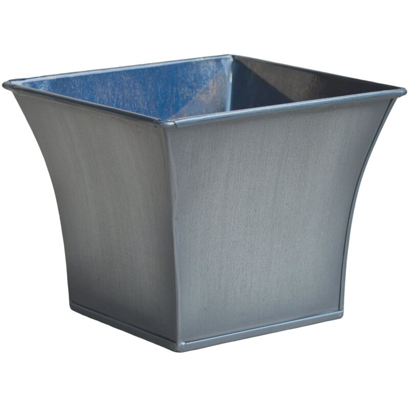 Craftware Zinc Pot Planter & Reviews | Wayfair on square aluminum planters, square iron planters, square stone planters, square brass planters, square outdoor planters, square tin planters, square terracotta planters, square fiberglass planters, square lead planters, square plastic planters, square white planters, square garden planters,