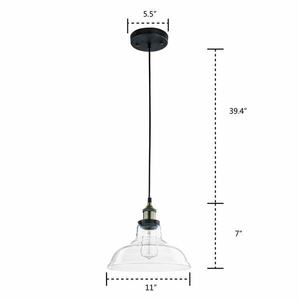 Breakwater Bay Alabama 1 Light Single Dome Pendant Reviews Wayfair