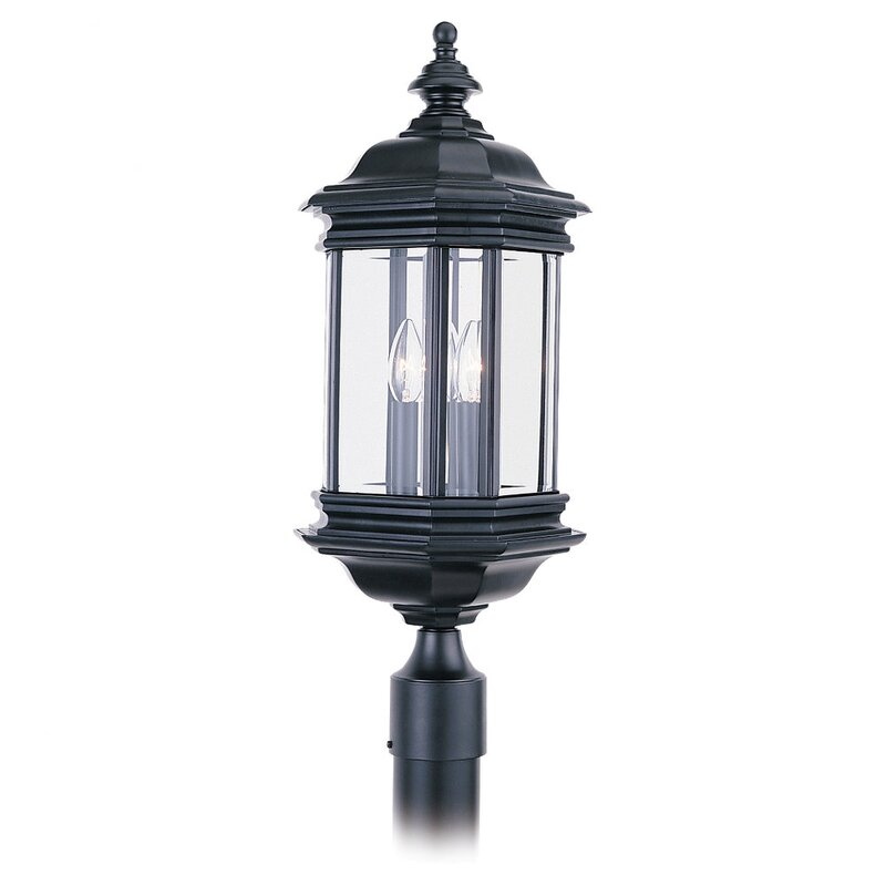 Sea gull lighting hill gate outdoor post lantern in black wayfair hill gate outdoor post lantern in black aloadofball Choice Image