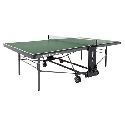 Expo Ping Pong Foldable Indoor Table Tennis Table (19mm Thick) TigerPingPong Finish/Color: Green