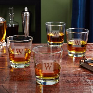 On the Rocks Personalized 12 oz. Whiskey Glass (Set of 4)