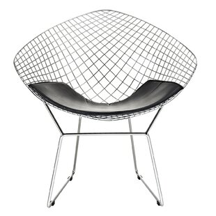 Atherste Upholstered Vinyl Papasan Chair by Wrought Studio