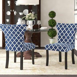 Hessie Lattice Upholstered Side Chair