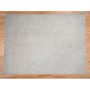 Comparison One-of-a-Kind Beaumont Hand-Knotted 9' x 12' Wool White Area Rug By Isabelline