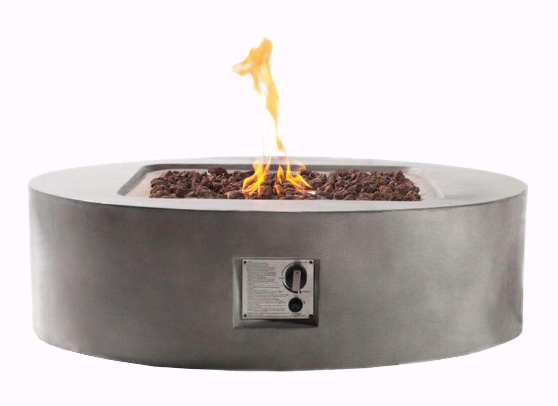 teva furniture flint propane fire pit u0026 reviews wayfair