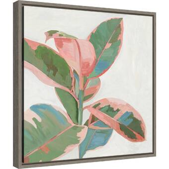 Red Barrel Studio Green Sleeves Ii Leaves By Isabelle Z Floater Frame Painting Print On Canvas Wayfair