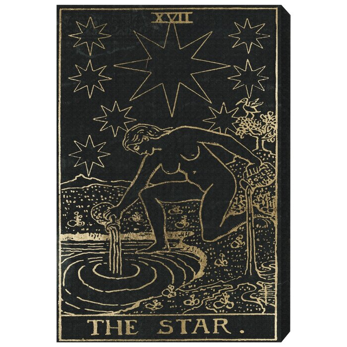 The Art Cabinet The Star Tarot Graphic Art Print On Wrapped Canvas