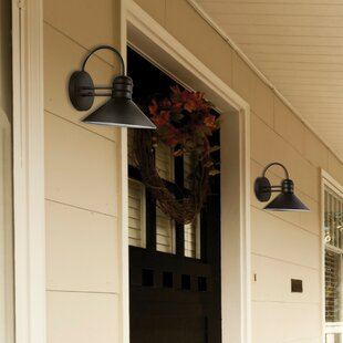 Compare & Buy Sebastien 1-Light Outdoor Wall Sconce (Set of 2) By Globe Electric Company