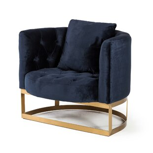 Gibby Barrel Chair by Everly Quinn