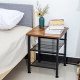 Boligee Wooden Nightstand by 17 Stories