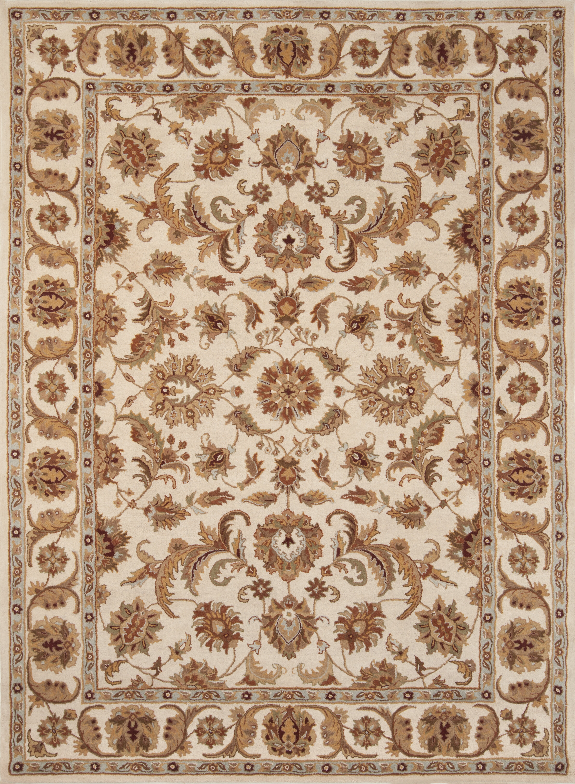Astoria Grand Taylorsville Oriental Handmade Tufted Wool Ivory Area Rug Wayfair