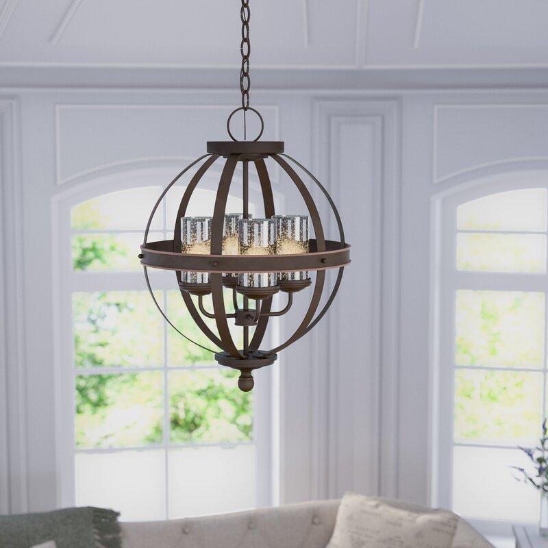 Donna 4-Light Globe Chandelier