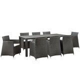 Bletchley 9 Piece Outdoor Patio Dining Set
