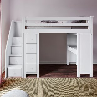 Deshotel Staircase Combo Twin Loft Bed by