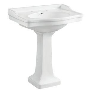 Best Reviews Victorian Ceramic 35 Pedestal Bathroom Sink with Overflow By Kingston Brass