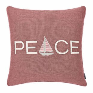 Peaceful Sailing Cotton Throw Pillow