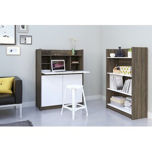 Alayna Secretary 2 Piece Desk Office Suite by Latitude Run Coupon