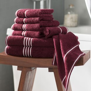 8 Piece 100% Cotton Towel Set