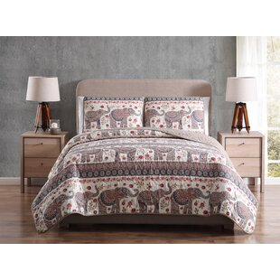 Christin Elephant Reversible Quilt Set