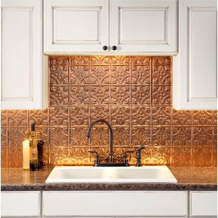 Traditional 18 25 X 24 Pvc Backsplash Panel Kit In Polished Copper