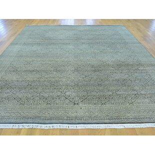 Best Reviews One-of-a-Kind Becker Hand-Knotted Black Wool Area Rug By Isabelline