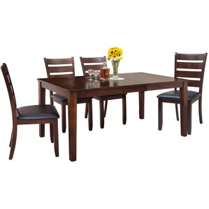 Downieville-Lawson-Dumont Traditional 5 Piece Wood Dining Set by Loon Peak