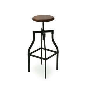 Mohammed Adjustable Height Swivel Bar Stool 17 Stories