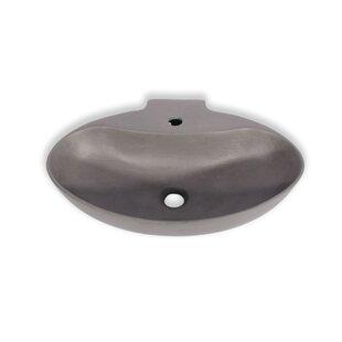 Affordable New Malaga Ceramic Oval Vessel Bathroom Sink with Overflow ByHispania Home