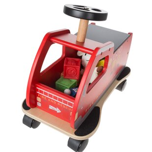 Gauthier Ride on Fire Truck Toy Box by Zoomie Kids