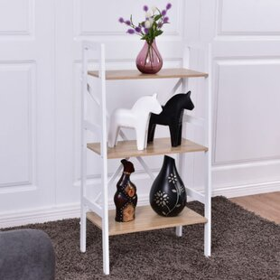 Calloway 3 Tier Ladder Storage Shelves Bookcase Wrought Studio
