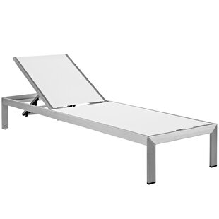 Coline Contemporary Outdoor Patio Aluminum Single Chaise (Set of 6)