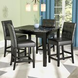 Sison 5 Piece Counter Height Dining Set by Darby Home Co