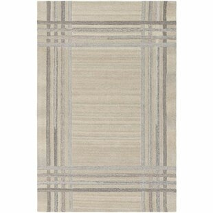 Purchase Ace Hand-Tufted Cream/White Area Rug By Williston Forge