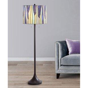 Purple shade floor lamps youll love wayfair eicher 61 floor lamp aloadofball Gallery