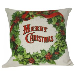 christmas wreath pillow cover - Christmas Decorative Pillow Covers