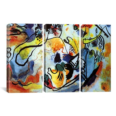 Wrought Studio 'The Last Judgment' by Wassily Kandinsky 3 Piece Painting Print on Wrapped Canvas Set Size: 60 H x 90 W x 1.5 D