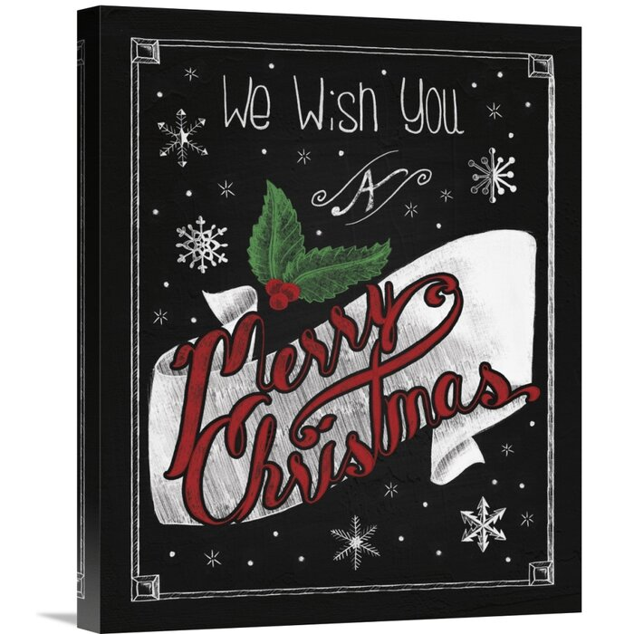 Christmas Chalkboard.Christmas Chalkboard I Textual Art On Canvas