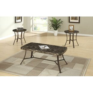 Compare & Buy Hassett Faux Marble Top 3 Piece Coffee Table Set (Set of 3) By Ebern Designs