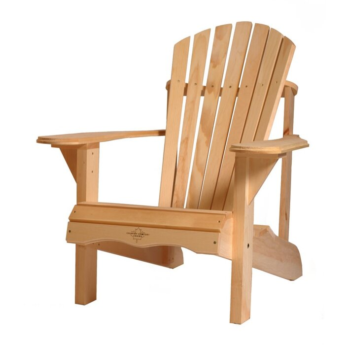 Charming Boothe Solid Wood Adirondack Chair