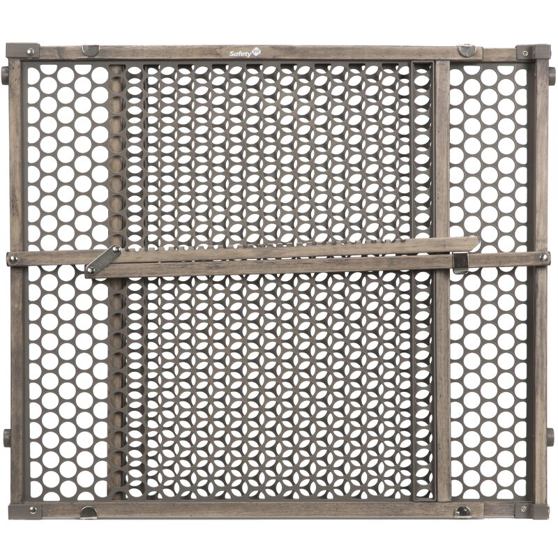 North State mount Expandable Swing sturdy wood Gate Equipped w safety rail Home