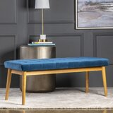 Carstens Upholstered Bench by Everly Quinn