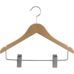 Check Prices Junior Combo Hanger with Adjustable Cushion Clips (Set of 25) By Rebrilliant